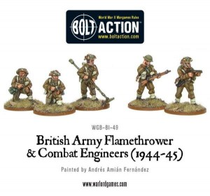 British Army Combat Engineers & Flamethrower Team