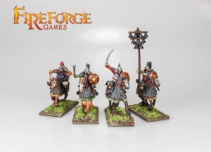 MONGOL HEAVY CAVALRY COMMAND (4 MOUNTED RESIN FIGURES)