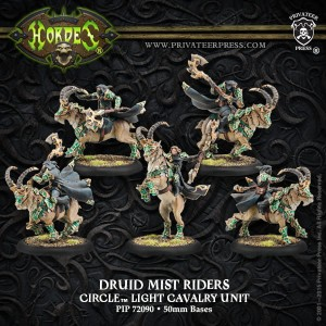 CIRCLE BLACKCLAD DRUID MIST RIDERS (5)  PLASTIC
