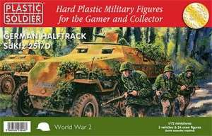 1/72nd Easy Assembly German Sdkfz 251 Ausf D Half track