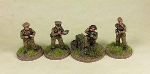 1/72nd British HQ/Battery Staff Teams