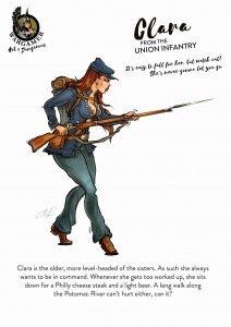CLARA FROM THE UNION INFANTRY