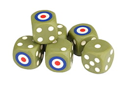 British Dice Set (6)