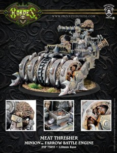 MINION BATTLE ENGINE MEAT THRESHER   INC RESIN