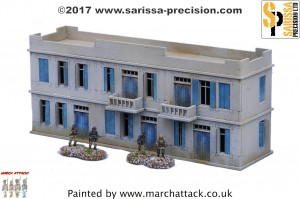 20MM NORTH AFRICAN COLONIAL LARGE TWO STOREY BUILDING