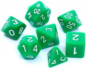 RPG DICE SET - MATT - GREEN
