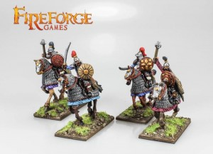 MONGOL HEAVY CAVALRY MIXED WEAPONS (4 MOUNTED RESIN FIGURES)