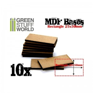 MDF RECTANGULAR BASE 25X50 - PACK 10