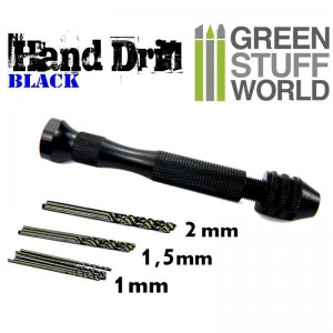 BLACK HAND DRILL WITH 10X DRILL BITS
