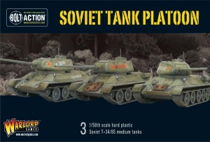 Soviet Armoured Platoon (3 T-34 plus infantry)