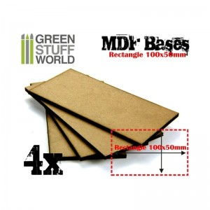 MDF RECTANGULAR BASE 100X50 - PACK 4
