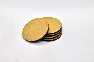 HDF BASES 50mm ROUND (5 pieces)