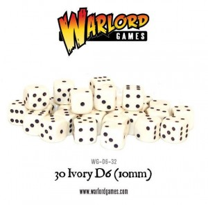 D6 DICE PACK - IVORY (30)