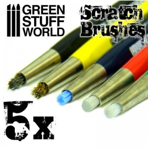 SCRATCH BRUSH SET 5PC