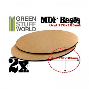 MDF OVAL BASE 170x105 - PACK 2