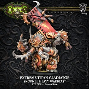 SKORNE ' EXTREME ' TITAN GLADIATOR    INC RESIN