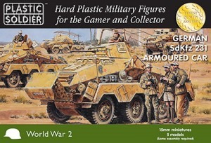 15mm German SdKfz 231 8 Rad Heavy Armoured Car