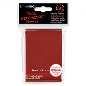 ULTRA PRO DECK PROTECTOR - SOLID RED 50