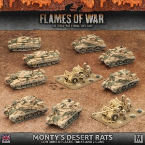 ARMY BOX: MONTY'S DESERT RATS (ALL PLASTIC)