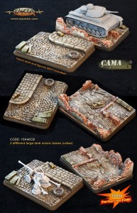 15mm 2 different large tank scenic bases (urban)