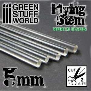 CLEAR ACRYLIC RODS 5MM