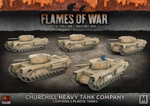 CHURCHILL HEAVY TANK COMPANY (x5 plastic)