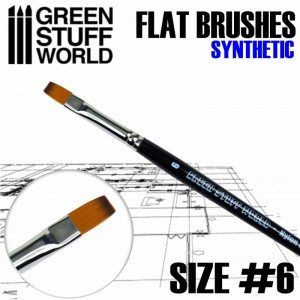 FLAT SYNTHETIC BRUSH - SIZE #6
