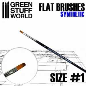 FLAT SYNTHETIC BRUSH - SIZE #1