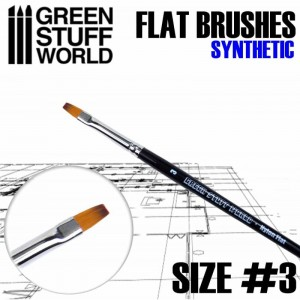 FLAT SYNTHETIC BRUSH - SIZE #3