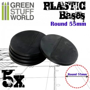 PLASTIC ROUND BASE 55MM - PACKX5