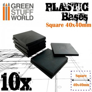 PLASTIC SQUARE BASE 40MM - PACKx10