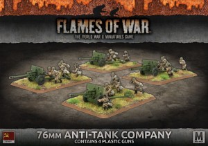 76MM ANTI-TANK COMPANY (X4 PLASTIC)