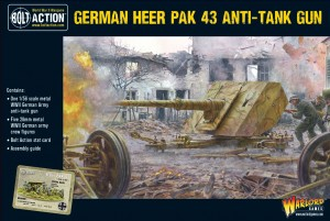 German Heer Pak 43 anti-tank gun