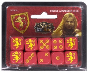 HOUSE LANNISTER DICE: A SONG OF ICE AND FIRE EXP.