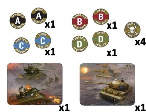 LATE WAR MISSION TOKEN SET (X14)