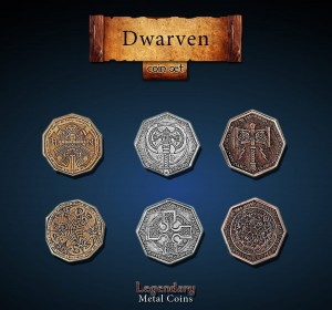 Dwarven Coin Set Legendary Metal Coins