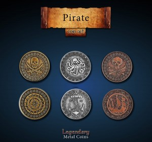 Pirate Coin Set Legendary Metal Coins