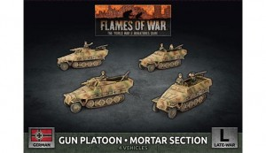GUN PLATOON - MORTAR SECTION (X4 PLASTIC) LATE WAR