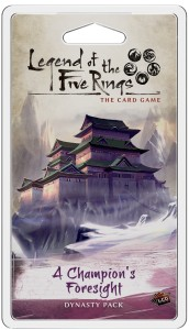 A Champion's Foresight Dynasty Pack: L5R LCG