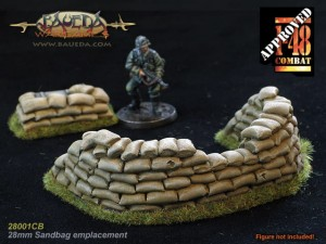 28MM SANDBAG MG EMPLACEMENT