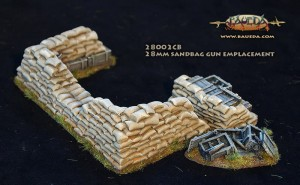28MM SANDBAG AT GUN EMPLACEMENT