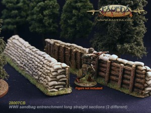 28MM SANDBAG ENTRENCHMENT 16CM LONG (2)