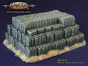 28MM STACK OF JERRYCANS