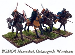 MOUNTED OSTROGOTH WARRIORS (8)