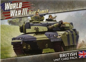 WWIII: BRITISH UNIT CARD PACK (39 CARDS)