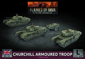 CHURCHILL ARMOURED SQUADRON (X3 PLASTIC)