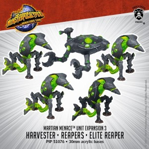 MONPOC MARTIAN MENACE REAPERS & HARVESTER (5)