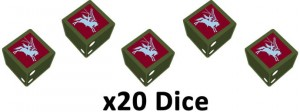 6TH AIRBORNE DIVISION DICE SET (X20)