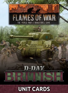 D-DAY BRITISH UNIT CARD PACK (66 CARDS)