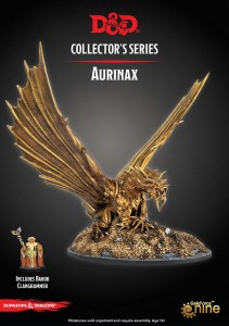 Aurinax the Gold Dragon and Banehammer Dwarf: D&D Collector's Series
